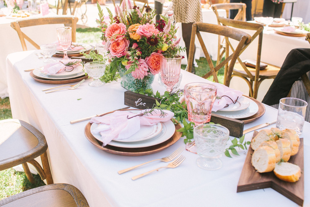 Outdoor floral bridal shower