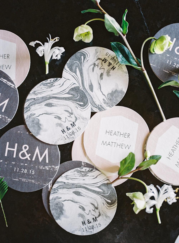 Marble custom coasters
