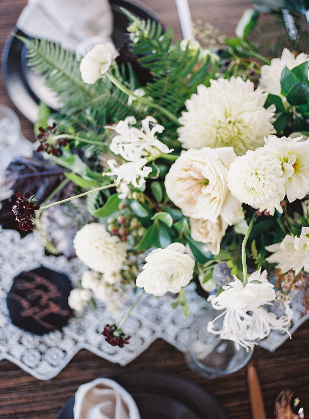 White and green floral inspiration