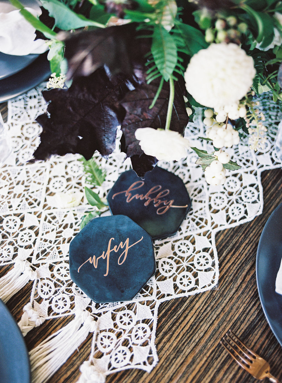 Calligraphy wedding ideas