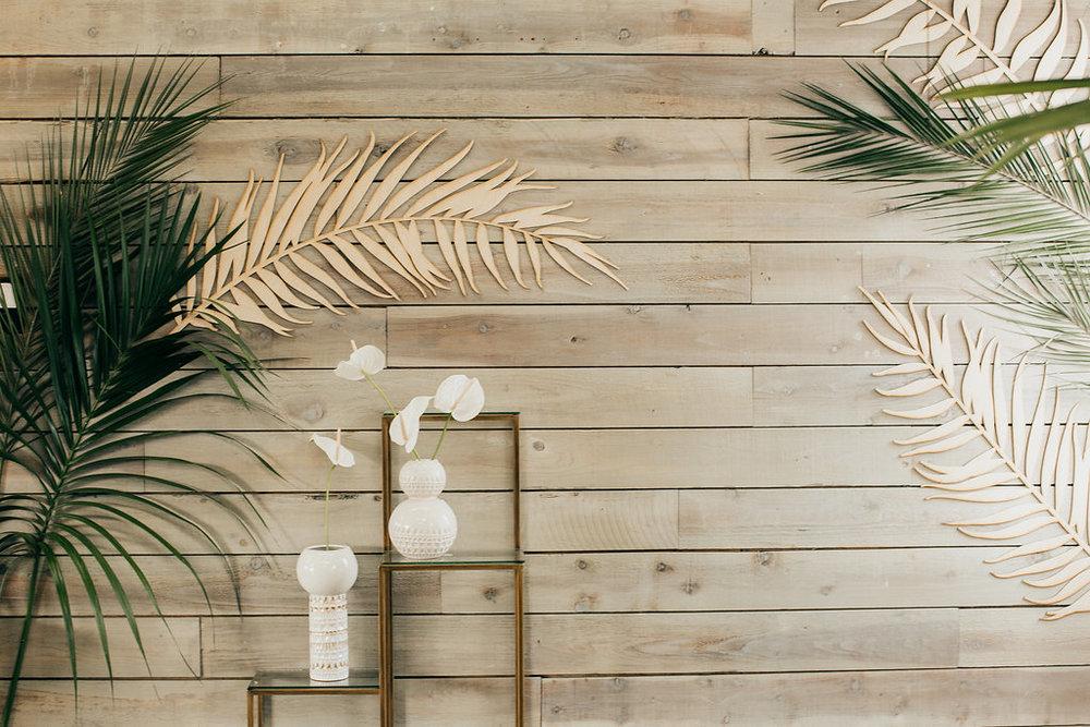 Modern tiki lounge wall