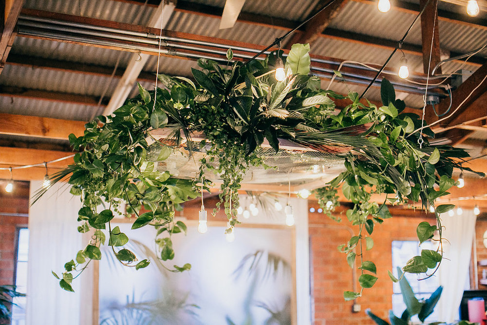 Greenery tropical chandelier