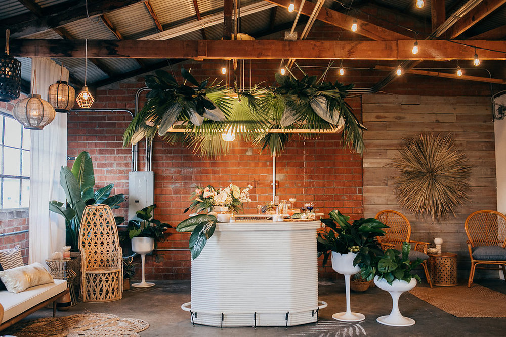 Modern tropical bar