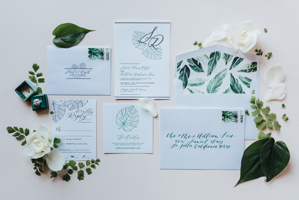 Sarah + Robb: Modern Tropical Affair