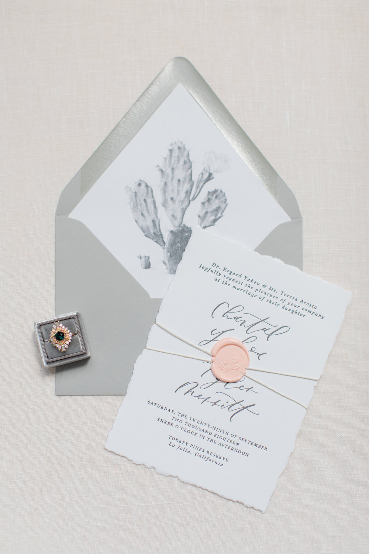 California wedding wax seals