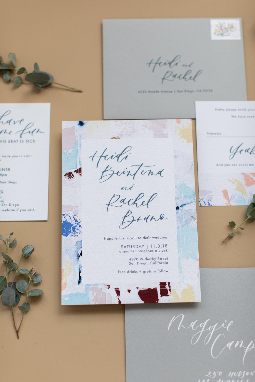 Gay and lesbian wedding invitations