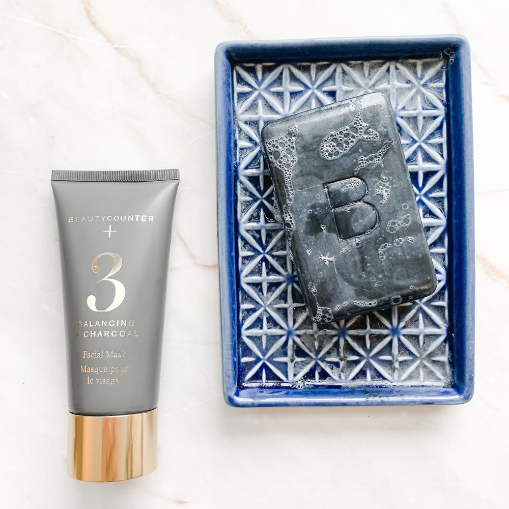 Charcoal mask and charcoal cleansing soap bar
