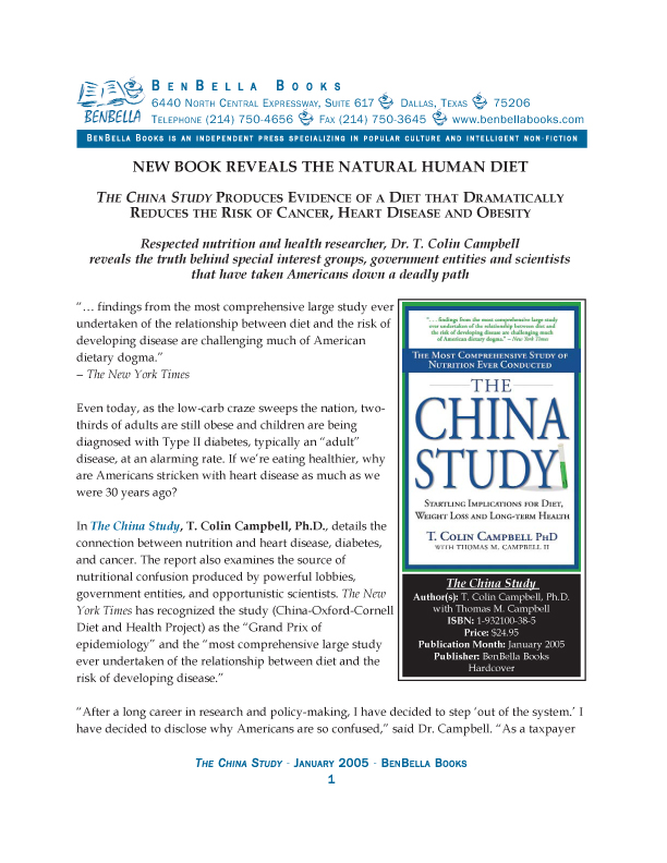 """China Study"" Media Kit 