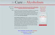 """The Cure for Alcoholism"" Website Design 