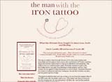 """The Man with the Iron Tattoo"" Website Design 