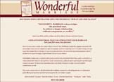 """Wonderful Marriage"" Website Design | moxiestudio.com"