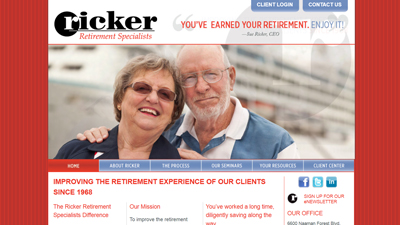 Ricker Retirement Specialists Website