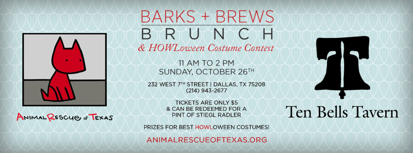Animal Rescue of Texas - Barks + Brews - Facebook Cover Image