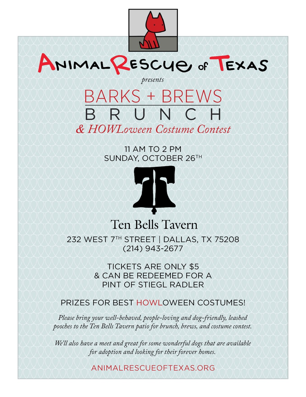 Animal Rescue of Texas - Barks + Brews - Digital Flyer