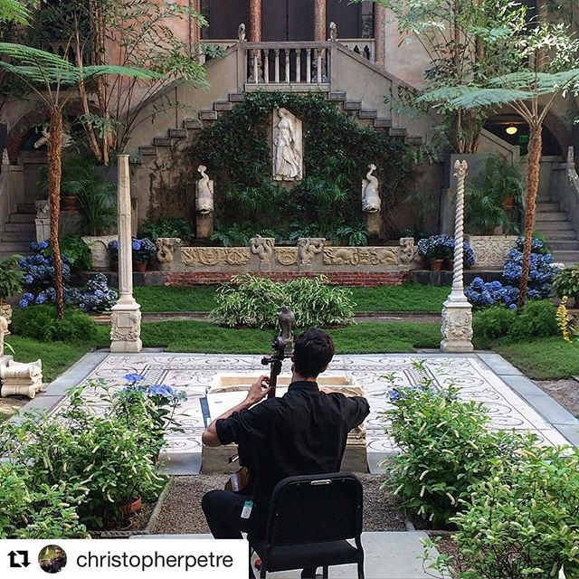 Not a bad way to place to make some music on a Saturday morning. Thanks @gardnermuseum for having me and @christopherpetre for the photo!