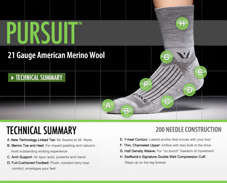 http://www.swiftwick.com/pursuit-socks-28-ctg.htm