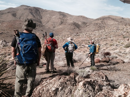 Leading a Sierra Club trip in the backcountry of Joshua Tree NP