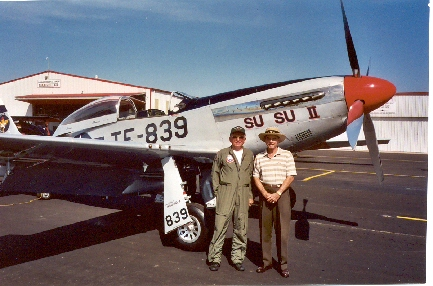 Frank Borman and Don Payne - Claremore OK Air Show September 6, 2003. Frank put on an aerobatic demonstration in his restored P51.