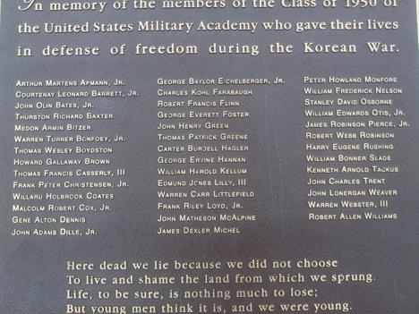 Class of 1950 Memorial in Korea