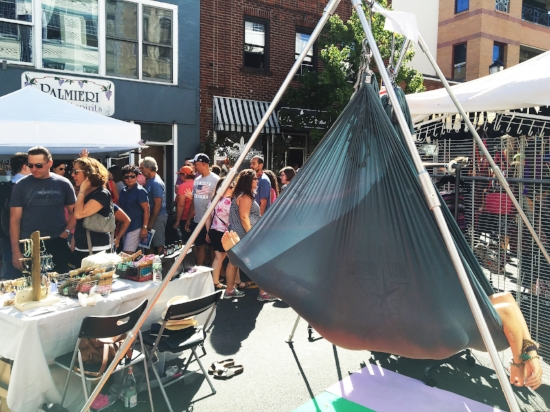 Cocooning in the middle of Nyack Street Fair
