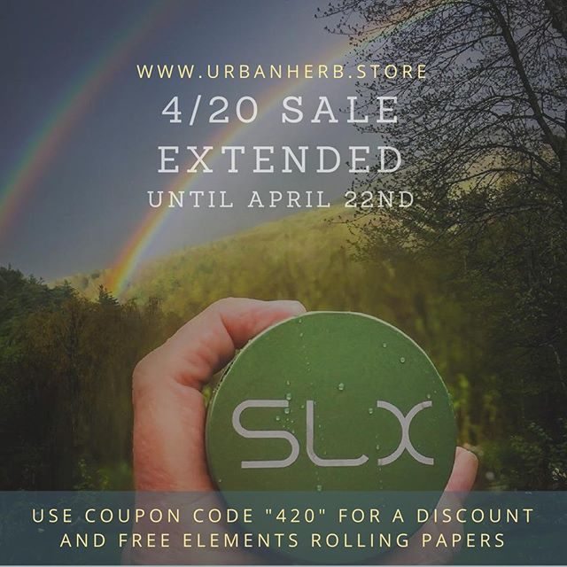 Our pals over at Urban Herb are extending their 4/20 sale. Great deals on SLX, with our manufacturer guarantee and fast, free shipping:  buff.ly/2F6t6pO Link in profile  #cannabis #weedcelebrationday #420friendly