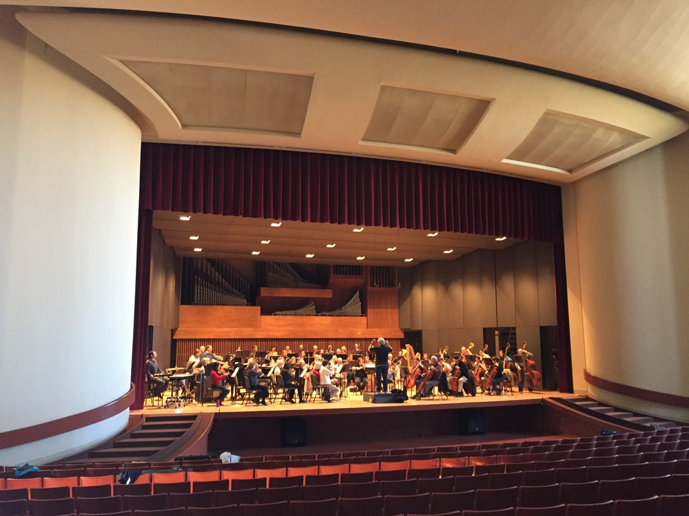 "Walla Walla Symphony rehearsing for ""Born in the U.S.A."" concert"