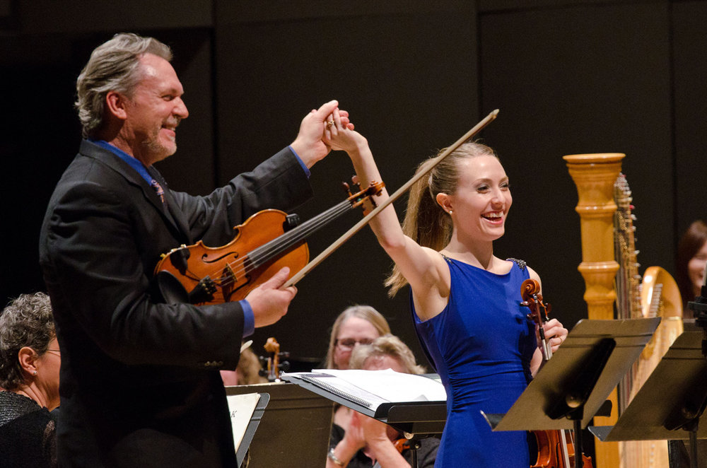 Mark and Maggie O'Connor performed with the Walla Walla Symphony, October 4, 2016.