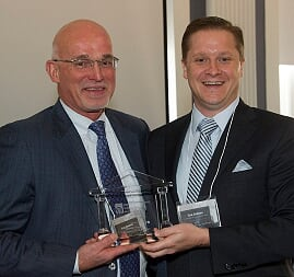 GCW Capital Principal, Tom Waring, receiving award from Lawsuit Reform Alliance of New York.