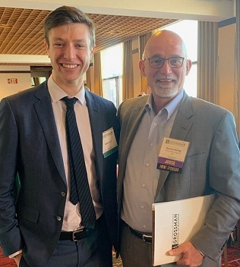 GCW Capital Principal, Tom Waring and 2019 Grossman School of Business Global Family Enterprise Case Competition Participant, Cole Green. 350.jpg