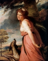 Portrait of Lady Hamilton as Bacchante, by Romney