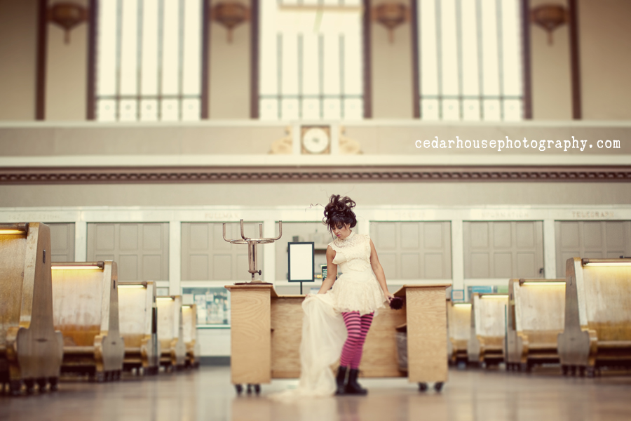 denver trash the dress photographer, colorado springs trash the dress photographer, colorado punk wedding, punk wedding photographer, colorado indie wedding photographer, union station wedding, unique colorado wedding photographer