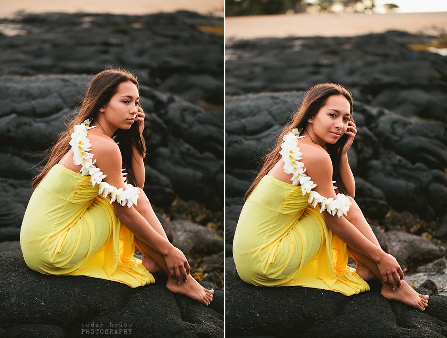 hawaii senior portraits, destination senior portraits, hula senior portraits, hula style shoot, hawaii style shoot, hawaii destination photographer, beach senior portraits, flower crown senior pictures, tropical senior pictures