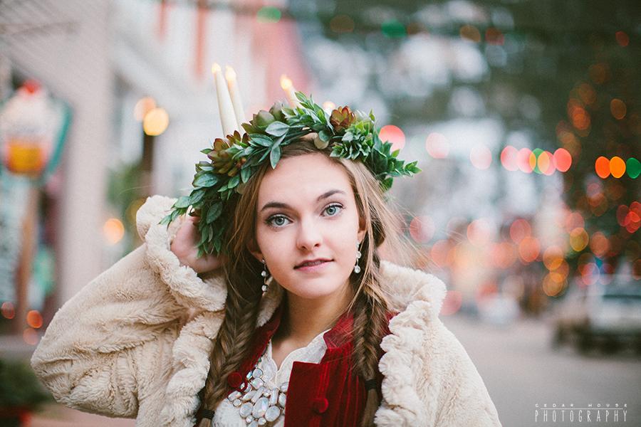 st. lucia, st. lucia day, swedish christmas, witner styled shoot, boulder senior photographer, boulder fashion photography, boulder editorial photography, boulder lifestyle photographer
