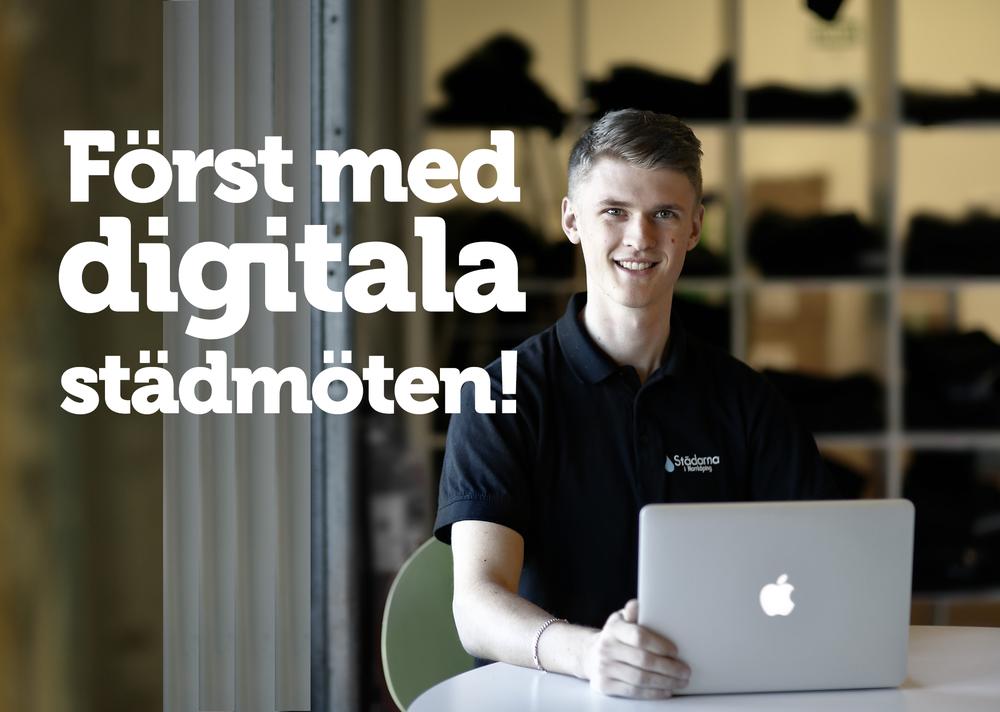 Vi på Städarna blir först i landet med att erbjuda digitala hemstädsmöten!