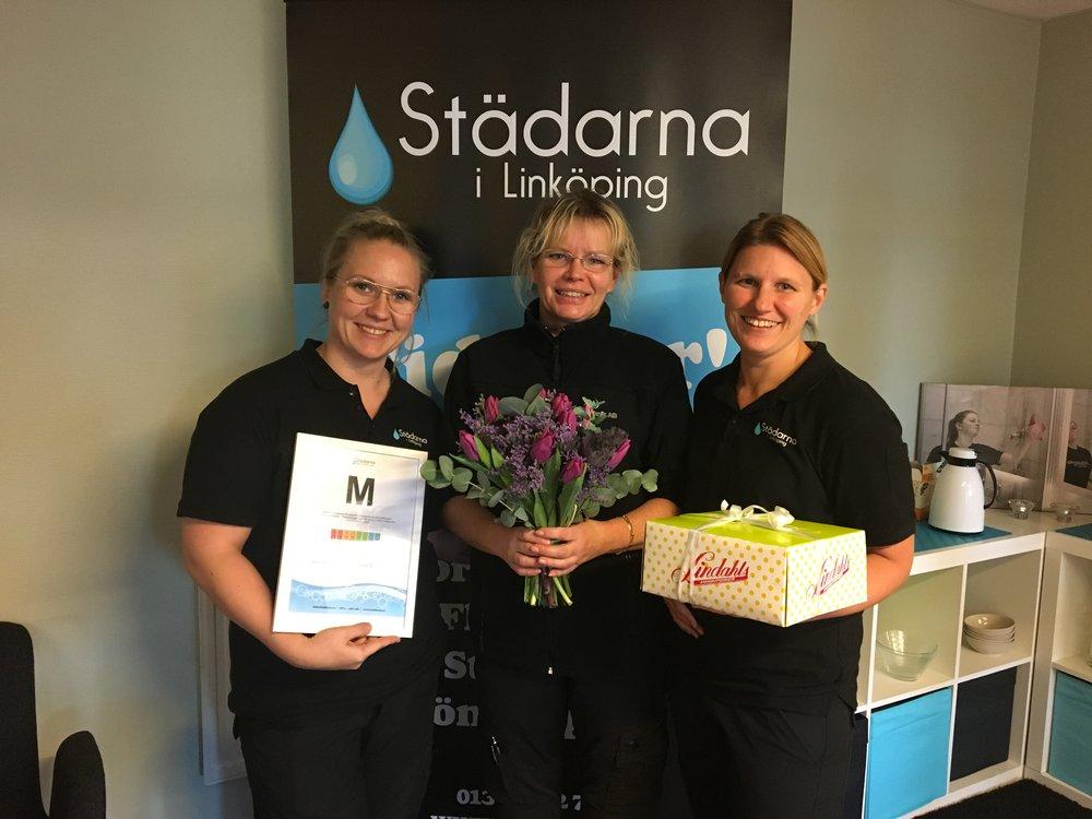 Bild från när Städarna i Linköping blev medium-kontor i december 2016