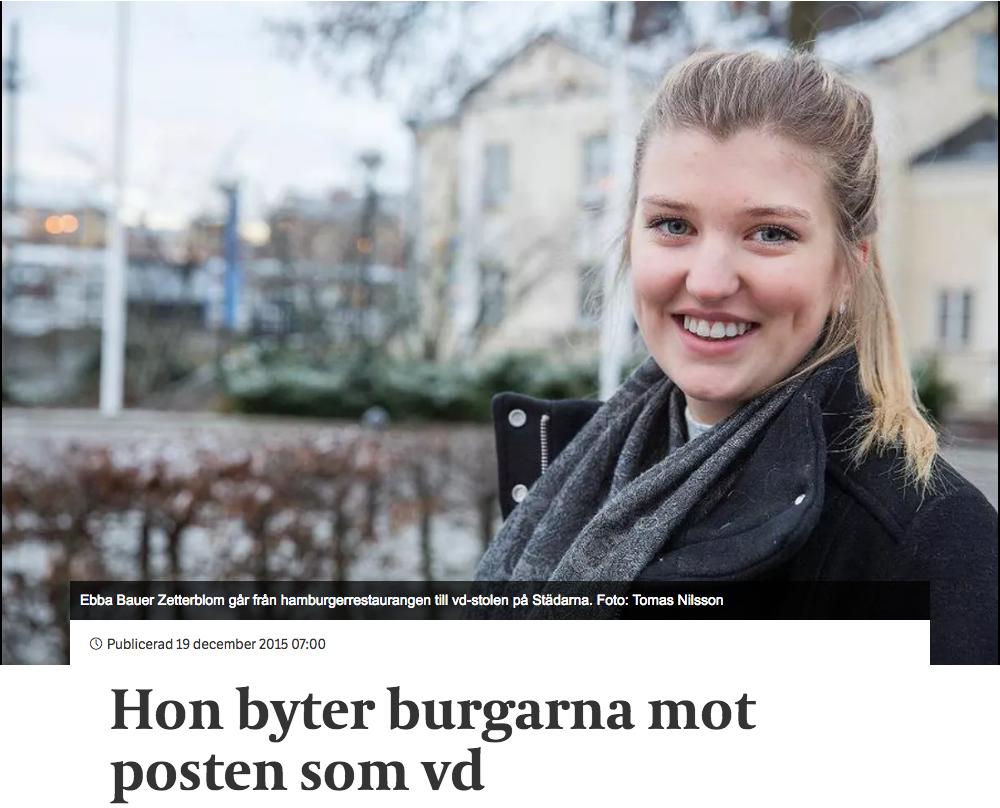 Läs om Ebba som är VD på Städarna i Katrineholm