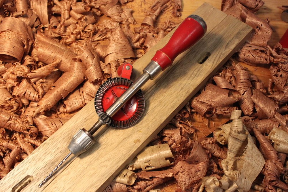 There are few things you can't do with a trusty brad point drill bit and an eggbeater drill.