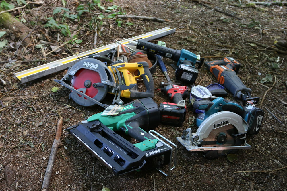 These are the tools April and I used to build a Tiny House in 7 days.