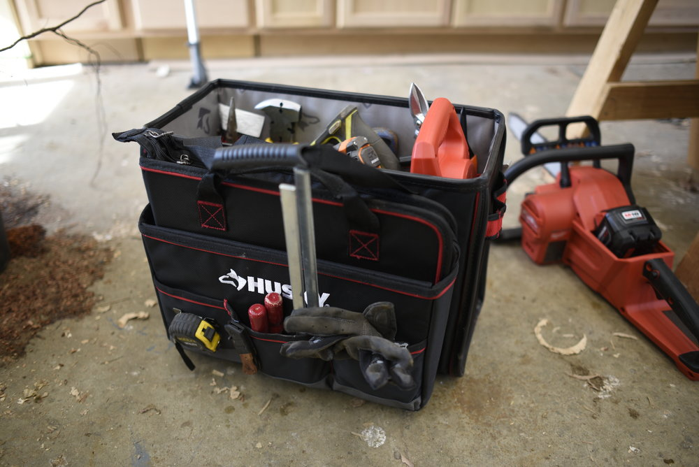 This Husky tool tote has become my new fencing bag