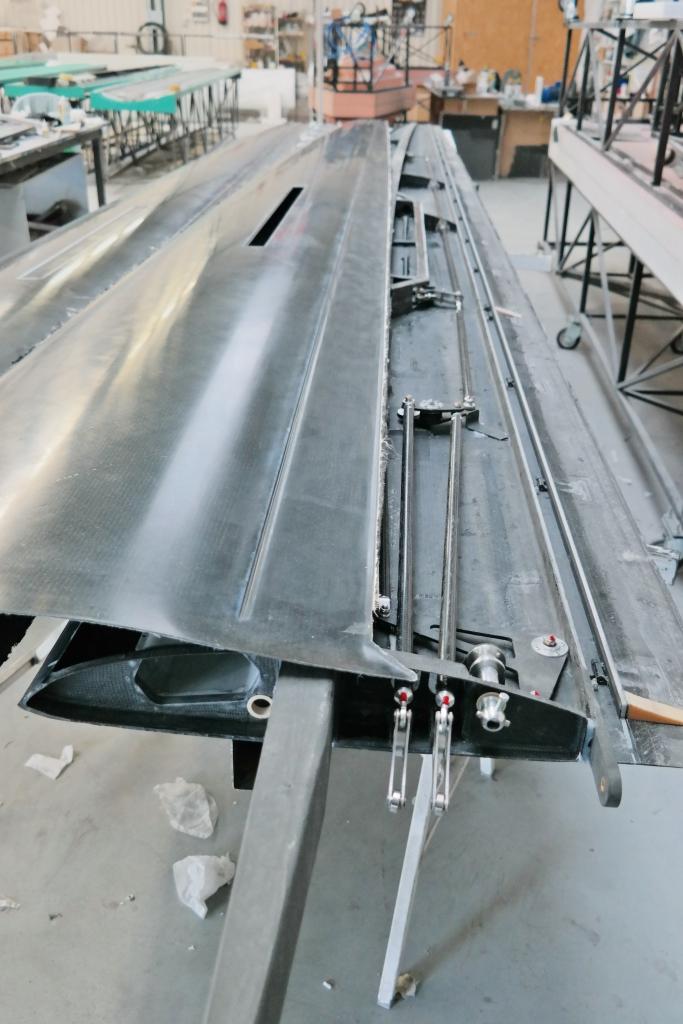 GP 14 interior construction of wing