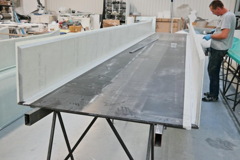 Trailer floor under construction