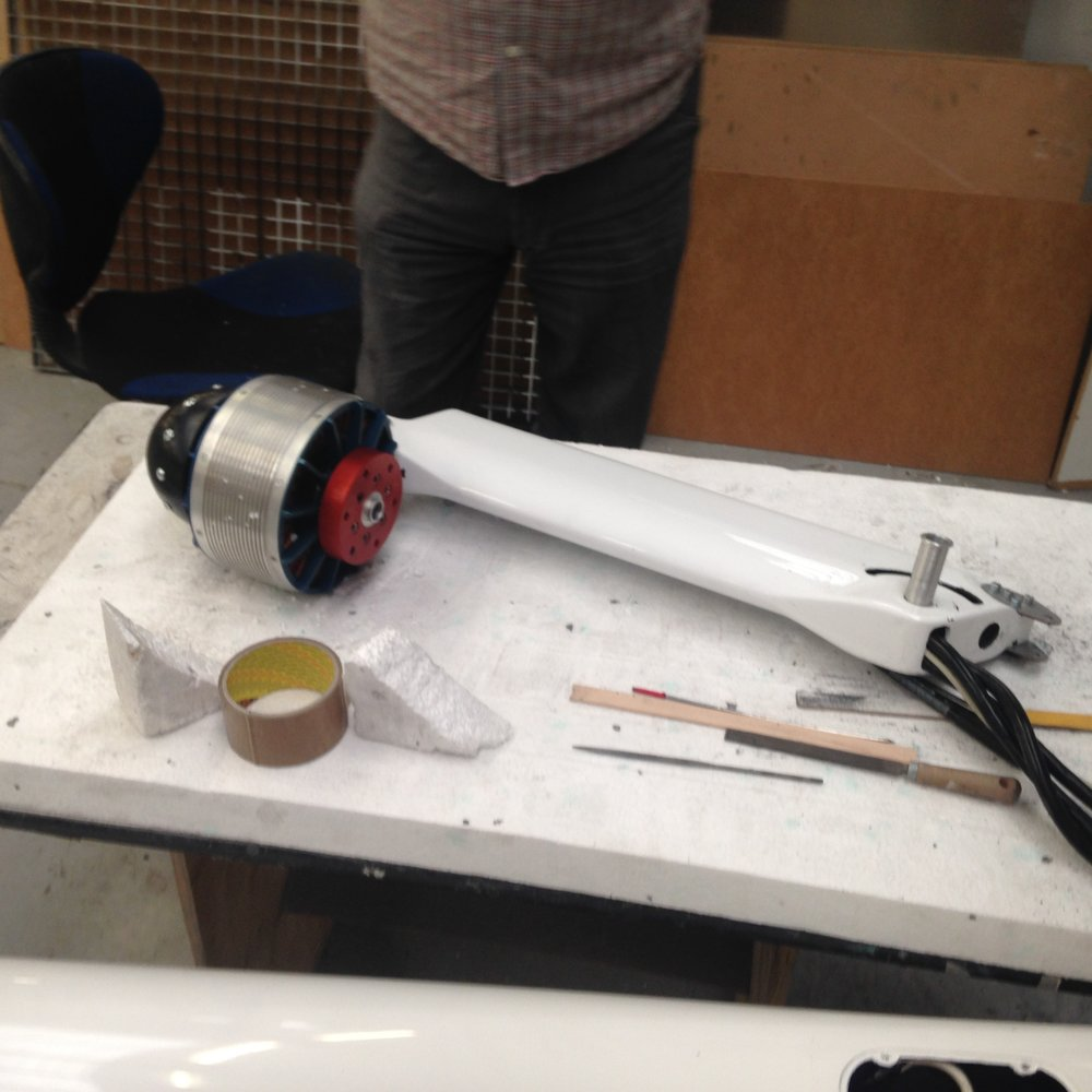 Newly re-designed motor boom with Rotex Motor