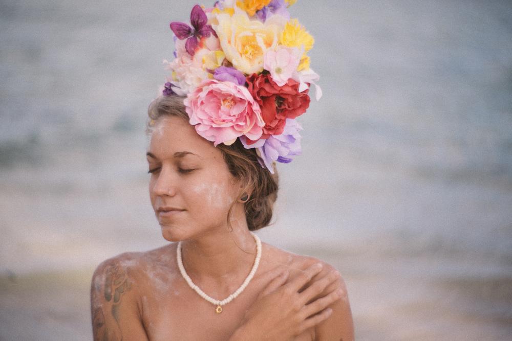 Lauren wearing Wildflower Moon Jewelry