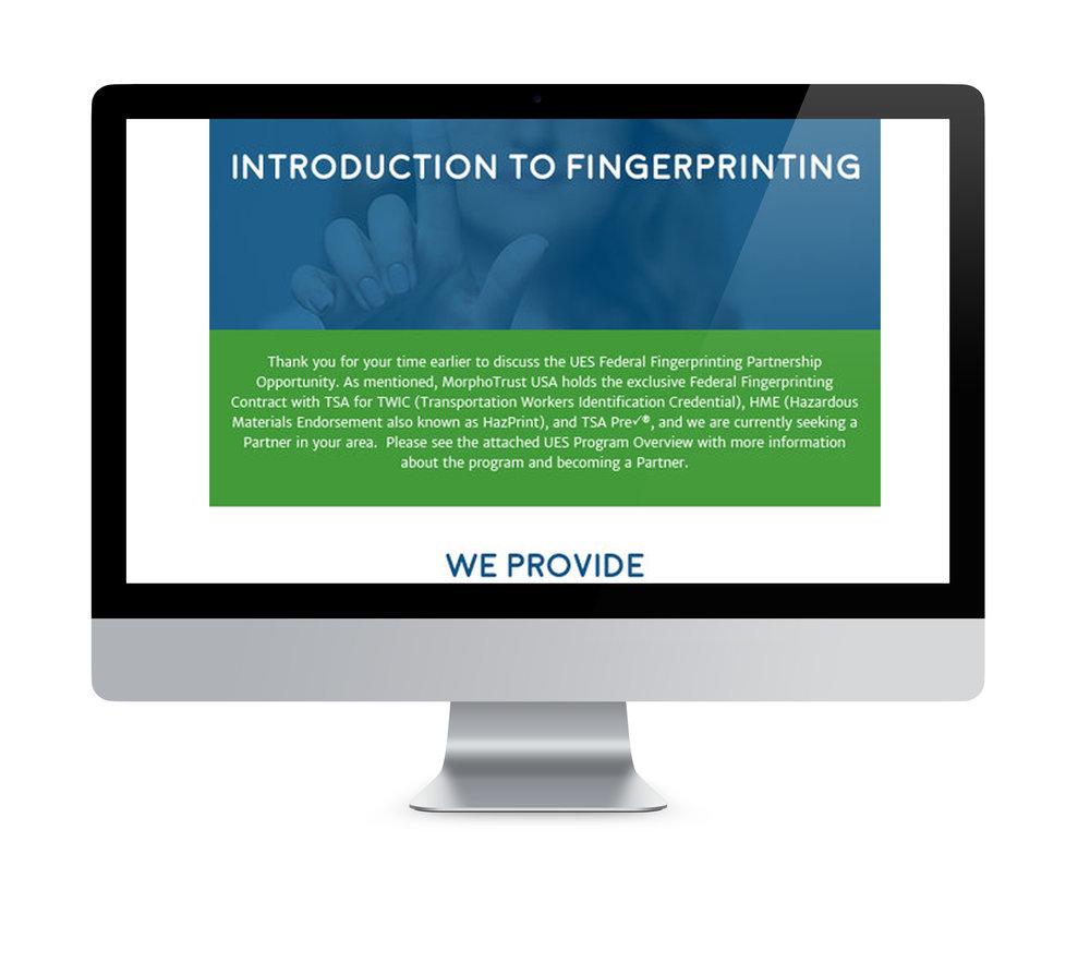 MorphoTrust USA     Partner Procurement Email Design & Implementation
