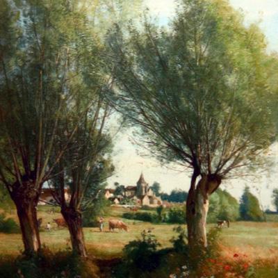"""Lavieille - """"Village near Fontainebleau"""""""
