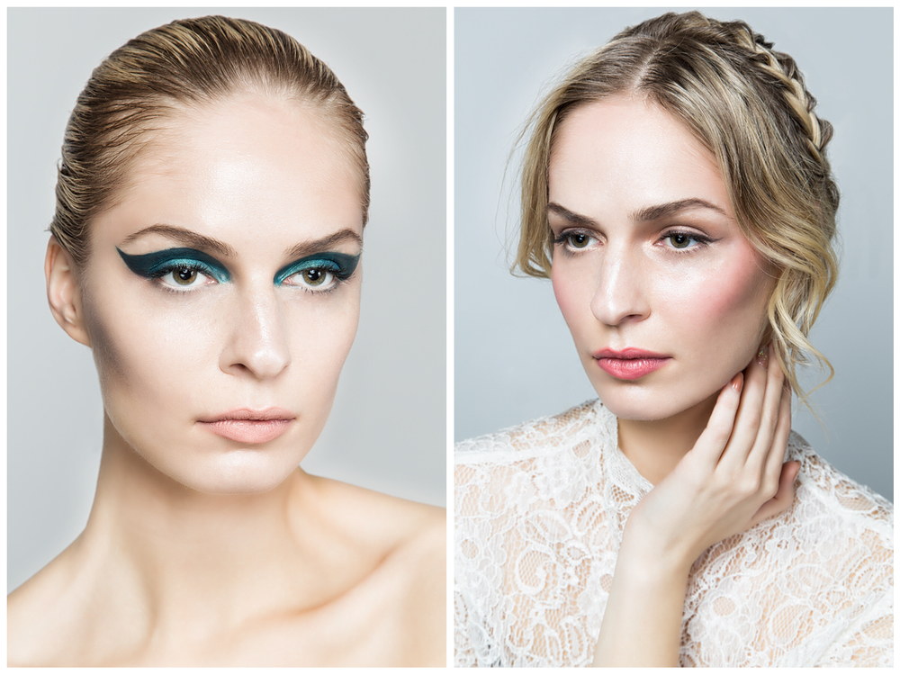 Recreation of Pat Mcgrath runway make up Versace Atelier 2015
