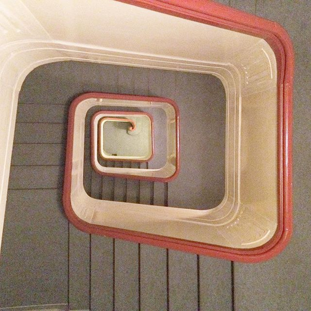 stairwell on saturday. #airbnb #nordiclove #danisharchitecture