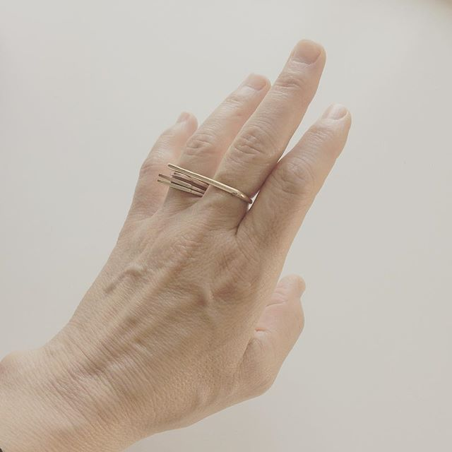 2018 capsule (drops in june). #jewelry #gold #ringstack #ring #minimalism #americanmade #handmade