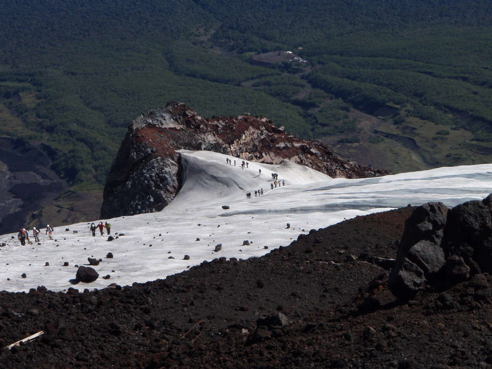 hiking the volcano