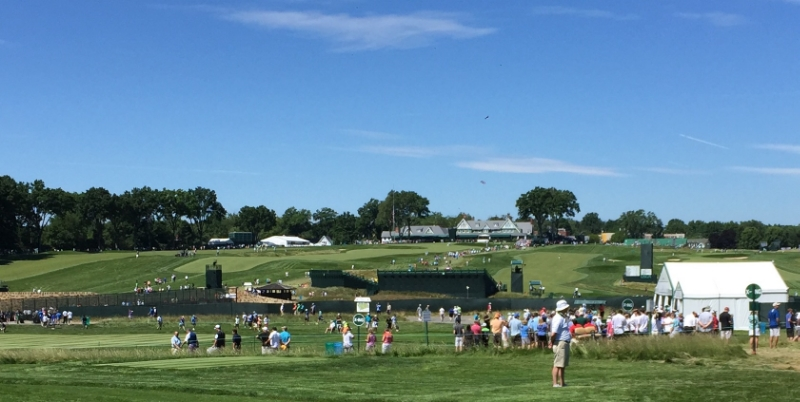 My look at the historic Oakmont Country Club during Tuesday's practice round.